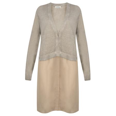 Sandwich Clothing Long Sleeve Linen Longline Cardigan - Beige