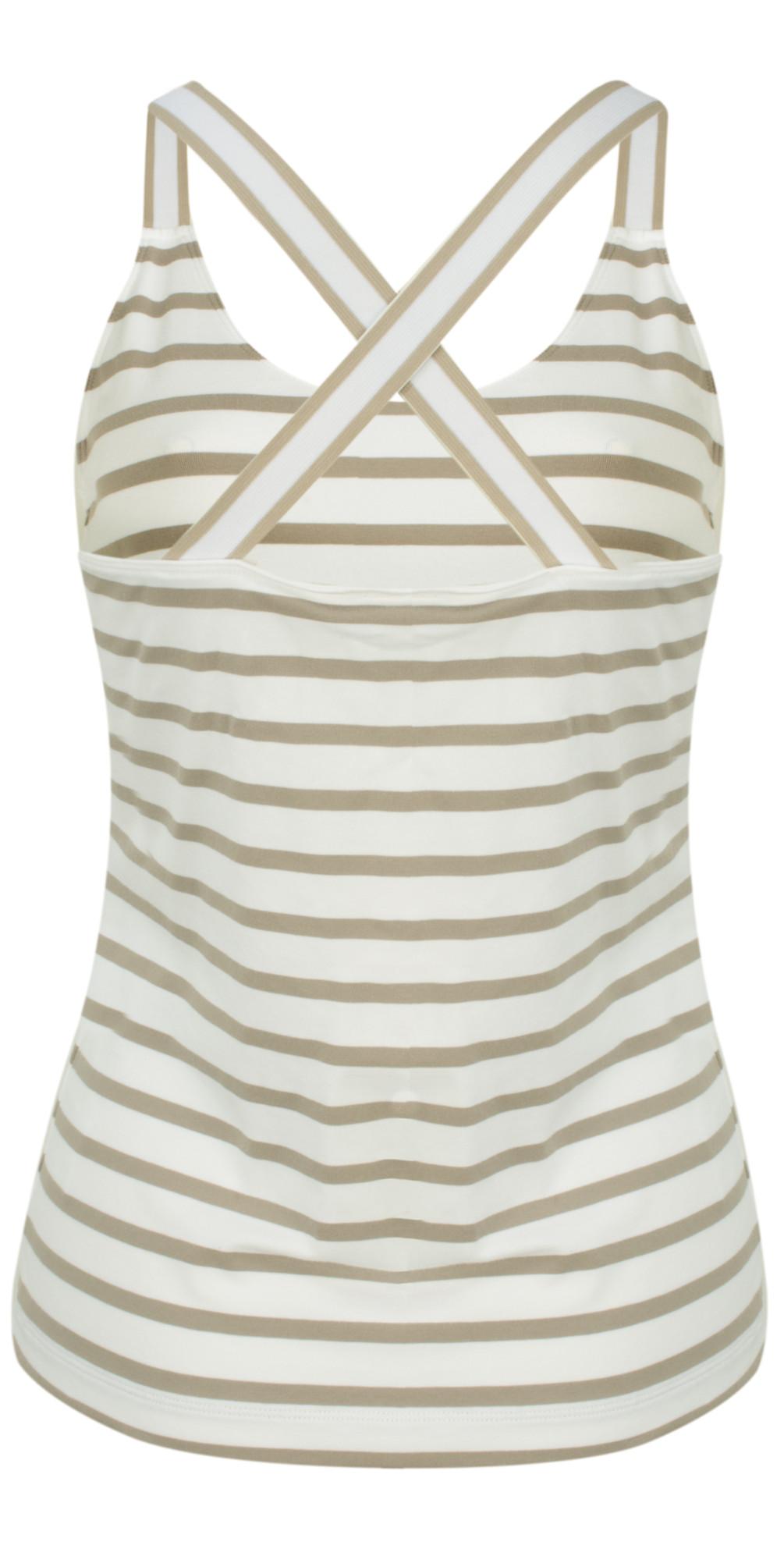 Essentials Stretch Cotton Stripe Jersey Vest main image