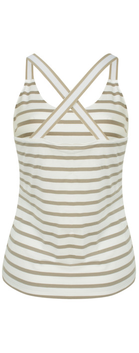 Sandwich Clothing Essentials Stretch Cotton Stripe Jersey Vest Pebble Sand