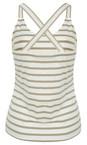 Sandwich Clothing Pebble Sand Essentials Stretch Cotton Stripe Jersey Vest