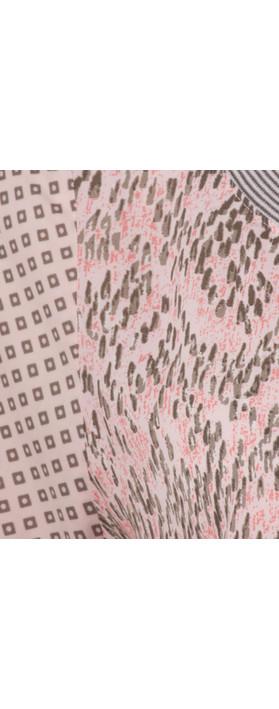 Sandwich Clothing Chevron Pattern Short Sleeve Blouse Potpourri