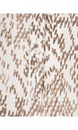 Sandwich Clothing Pure White Chevron Pattern Long Sleeve Blouse