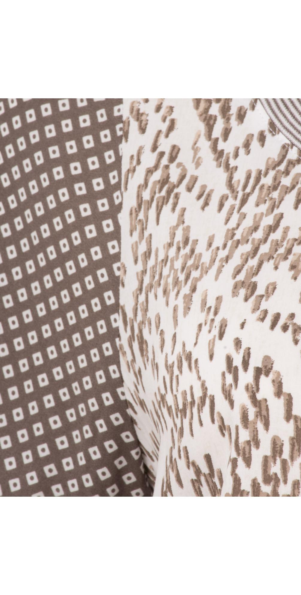 Chevron Pattern Short Sleeve Blouse main image