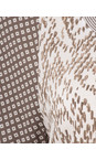 Sandwich Clothing Pure White Chevron Pattern Short Sleeve Blouse