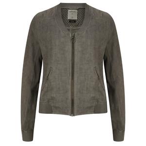 Sandwich Clothing Linen Bomber Jacket