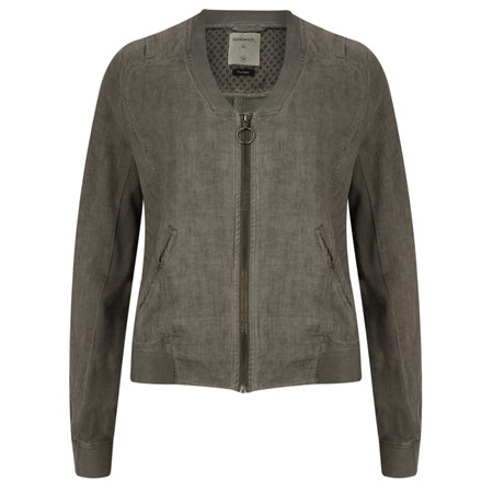 Sandwich Clothing Linen Bomber Jacket - Brown