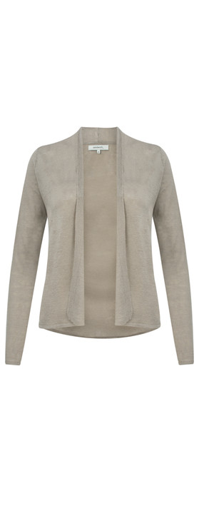 Sandwich Clothing Linen Mix Long Sleeve Cardigan Pebble Sand