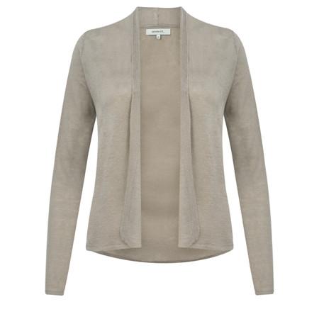 Sandwich Clothing Linen Mix Long Sleeve Cardigan - Beige
