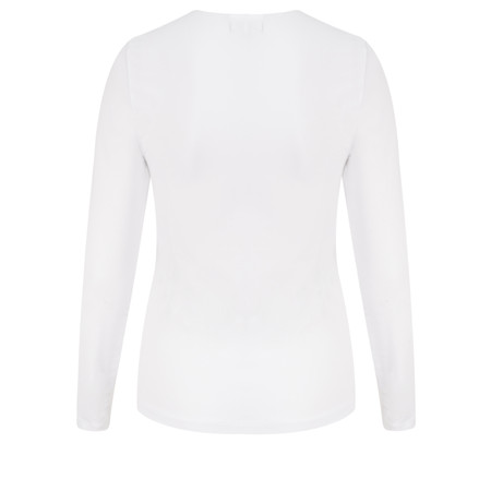 Sandwich Clothing Essentials Long Sleeve Stretch Cotton Jersey Top - White