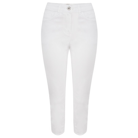 Sandwich Clothing Essential High Waist Cropped Trouser - White