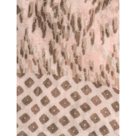Sandwich Clothing Soft & Easy Abstract Print Woven Scarf - Pink
