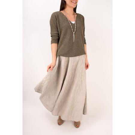 Grizas Silk Crinkle Long Skirt - Beige