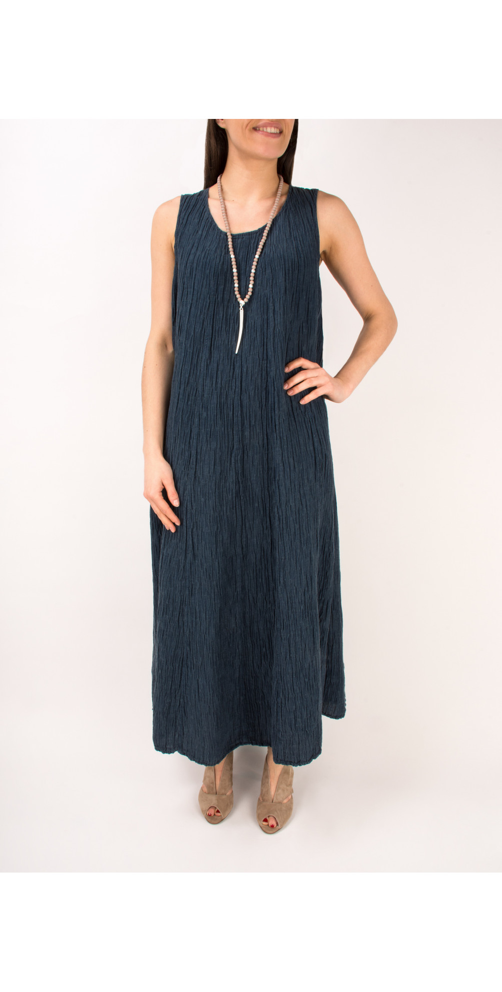 Silk Crinkle Long Dress main image