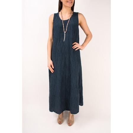 Grizas Silk Crinkle Long Dress - Blue