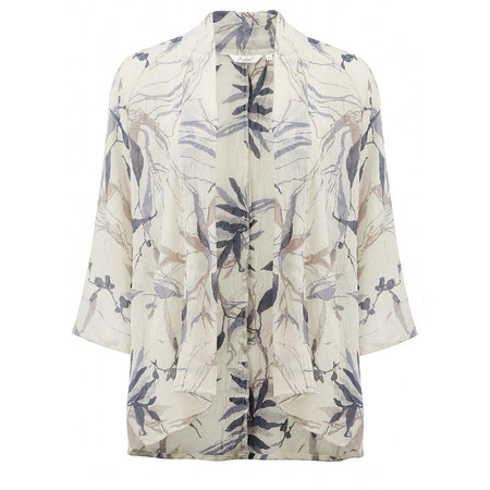 Adini Freya Print Rhea Kimono - Off-white