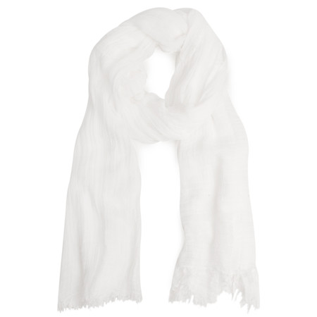 Sandwich Clothing Essential Crinkle Effect Scarf - White