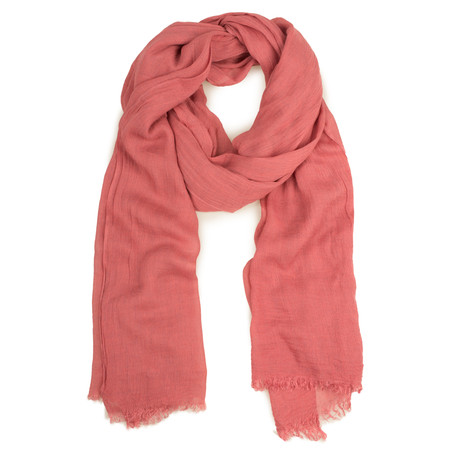 Sandwich Clothing Essential Crinkle Effect Scarf - Pink