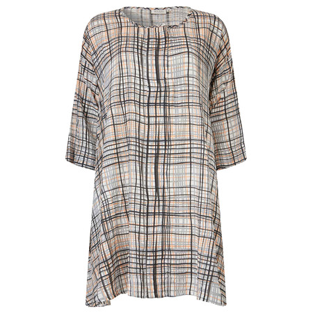 Masai Clothing Gemma Check Tunic - Orange