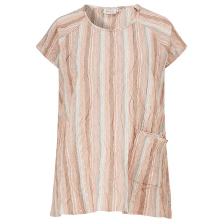 Masai Clothing Edwena Stripe Top - Orange