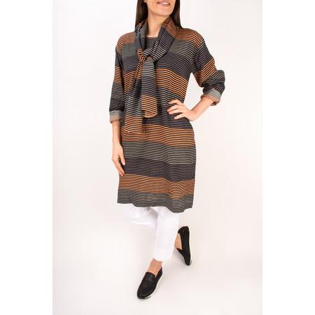 Masai Clothing Stripe Along Scarf - Orange