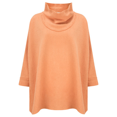 Masai Clothing Tea Oversize Poncho - Orange