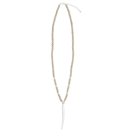 Eliza Gracious Matilda Horn Pendant Necklace - Brown