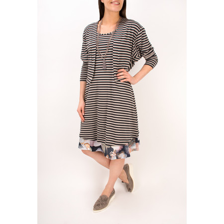 Myrine Anais Marble Print Sleeveless Dress - Black