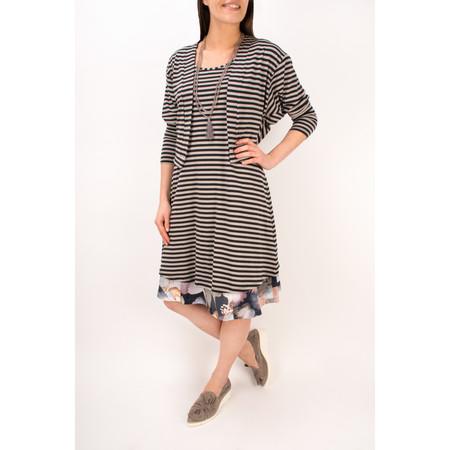 Myrine Tracey Striped Tunic Dress - Black
