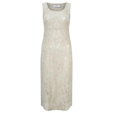 Myrine Lotte Lace Sleeveless Dress - Beige