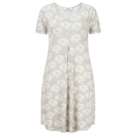 Myrine Pearl Daisy Print Tunic Dress - Beige
