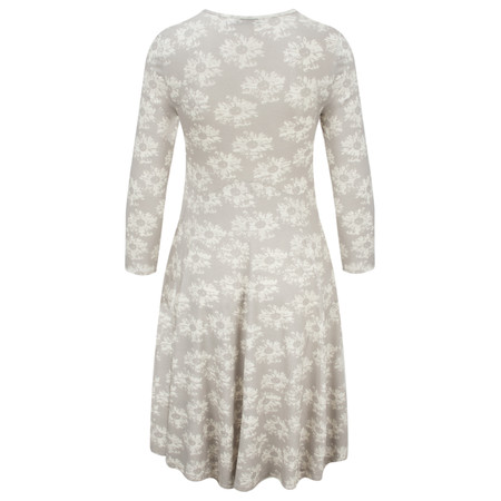 Myrine Pia Daisy Print Long Sleeve Dress - Beige