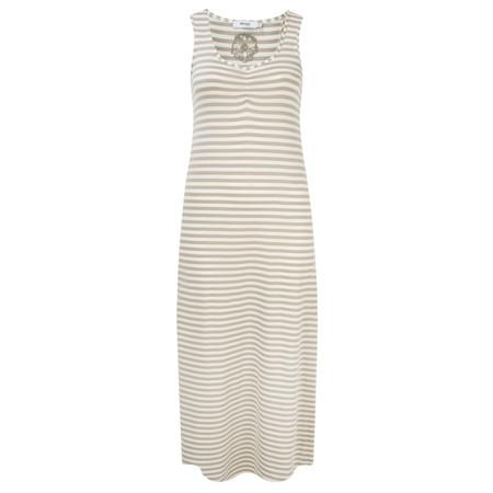 Myrine Tess Striped Sleeveless Dress - Beige