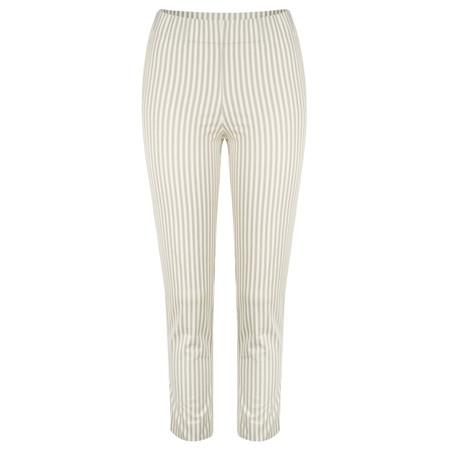 Myrine Bert Striped Stretch Trouser - Beige