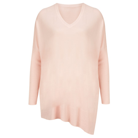 Arka Lila Slouchy V Neck Top - Blush Pink