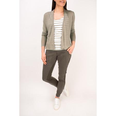 Sandwich Clothing Essentials Stretch Cotton Stripe Jersey Vest - Beige