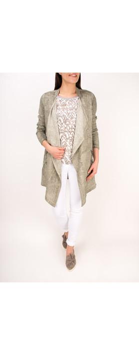 Sandwich Clothing Chevron Pattern Short Sleeve Blouse Pure White