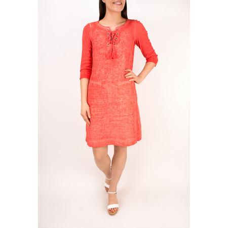 Sandwich Clothing Linen Tie Neck Dress - Pink