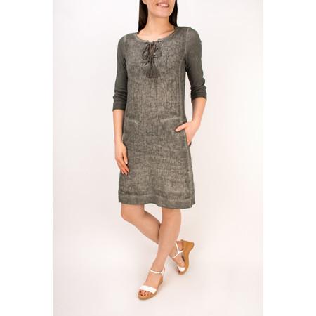 Sandwich Clothing Linen Tie Neck Dress - Brown