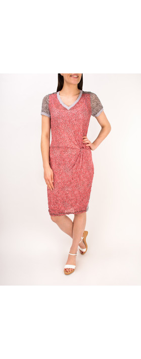 Sandwich Clothing Dotted Print Short Sleeve Crinkle Dress Pink Rose