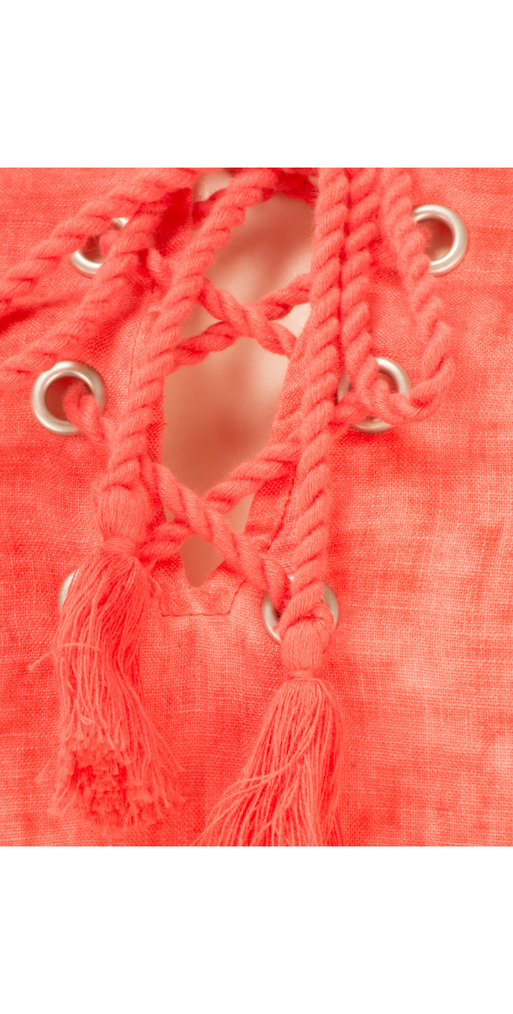 Linen Tie Neck Dress main image