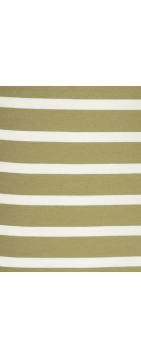 Sandwich Clothing Essentials Long Stretch Stripe Cotton Vest Sage Green