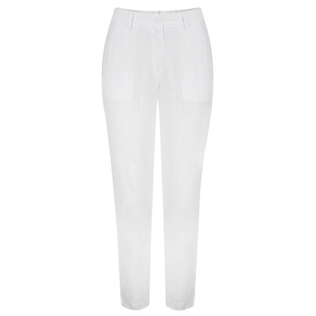 Backstage Hose Linen Rossi Trouser - White