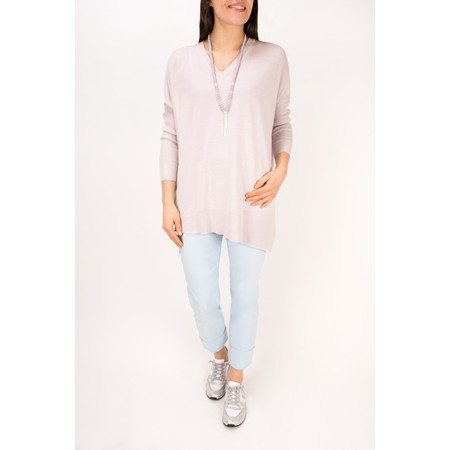 Arka Lila Slouchy V Neck Top - Blue