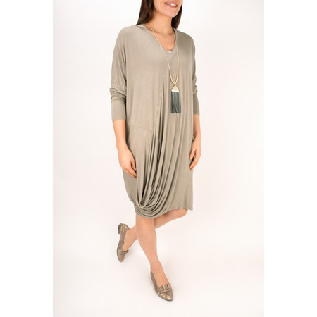 Arka Mara Easy Fit Jersey Tunic Dress - Brown