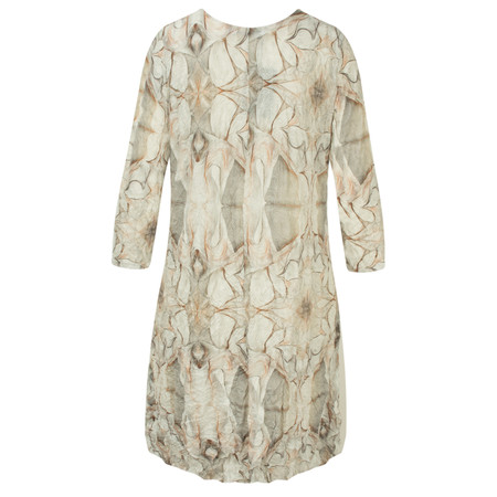 Lauren Vidal Vintage Collection Abstract Floral Print Tunic Dress - Brown