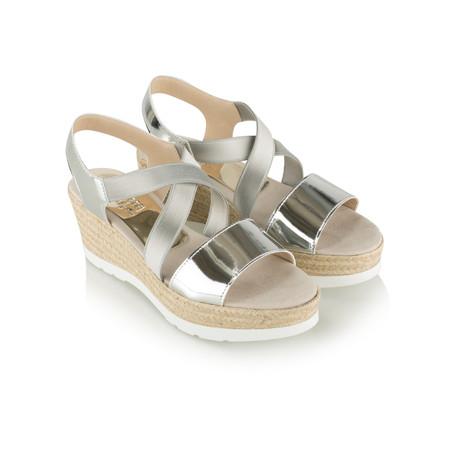 Viguera Oda Wedge Sandal - Metallic