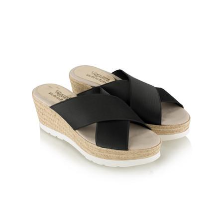 Viguera Odilie Wedge Sandal - Black