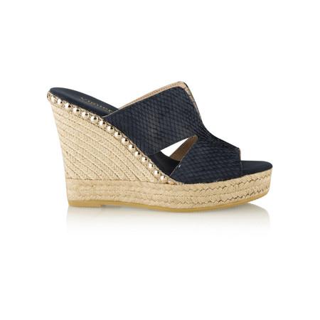 Viguera Ordella Wedge Mule Sandal  - Blue