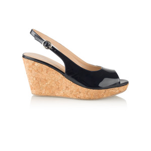 Vanilla Moon Shoes Marie Patent Wedge Sandal