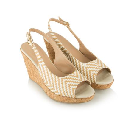 Vanilla Moon Shoes Marie Rafia Sandal - Beige